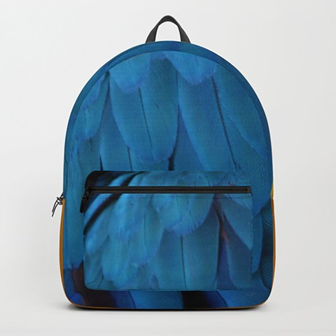 Parrot Feather Book Bag