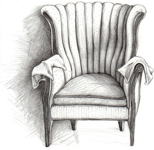 Marathon Formal Living Room Chair