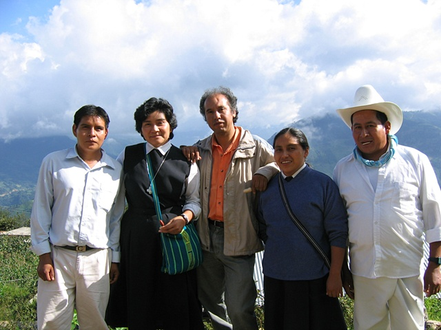 Activists from UNITONA in the Sierra Norte