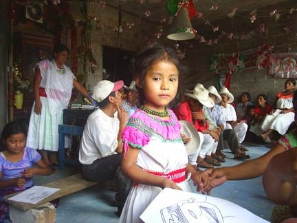 Totanaca Girl in Traditional Dress