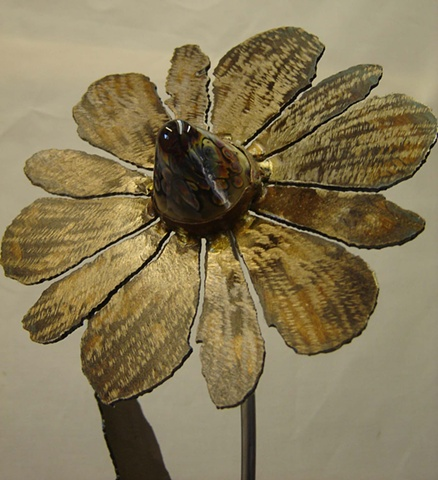 Fused glass seed-head
