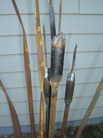 Cattail_2 The first cattail made with sections of pipe sold at Fall into the Arts as a Christmas present
