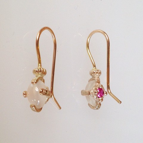 Tiny Reliquary Earrings