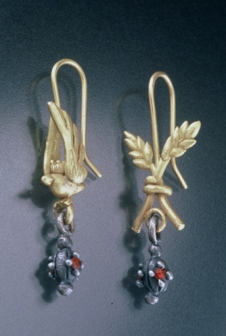 Bird and Wheat Earrings