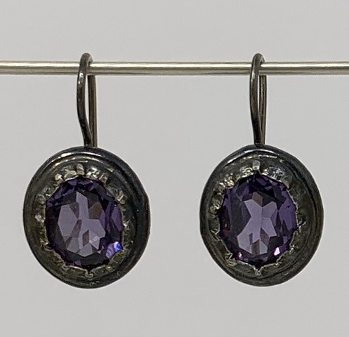 Georgian Alexandrite Earrings