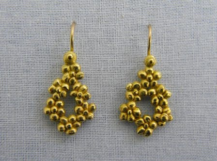 Chain of Flowers Droplet Earrings