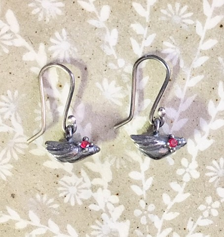 Tiny Bird Earrings