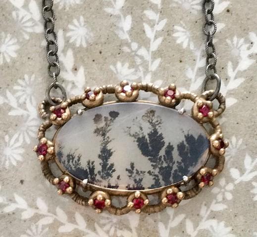 Fancy Dendritic Necklace