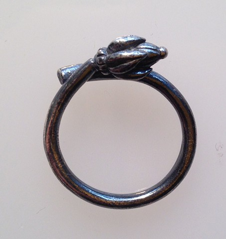 Bud Ring in Sterling