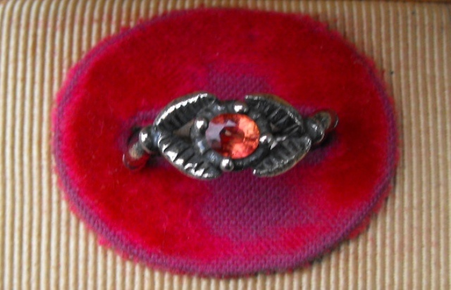 Orange Sapphire Claw Ring