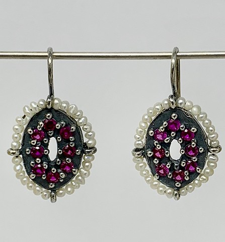 Encrusted Pearl Surround Earrings