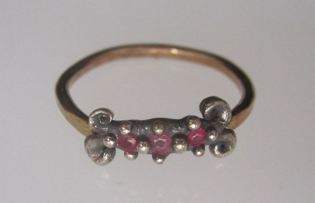 Ruby Scroll Ring