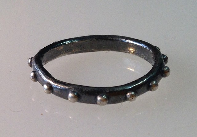 Dotted Sterling Ring