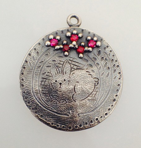 Rabbit in a Thicket Engraved Love Token