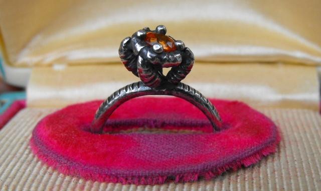 Talon Ring with Orange Sapphire
