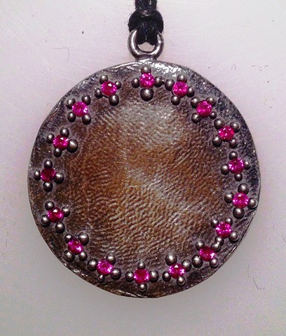 Large Love Token with Lab Grown Rubies
