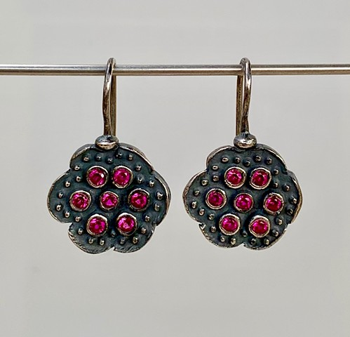 Encrusted Floral Earrings