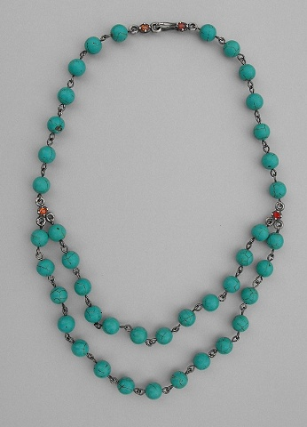Turquoise Stone and Sapphire Necklace