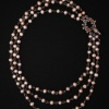 Swan and Chain of Flowers Tiered Pearl Necklace