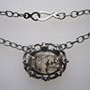 Dendritic Quartz and Black Diamond Necklace