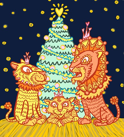 Holiday Lions