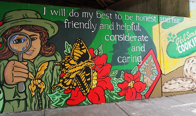 Girl Scout Mural