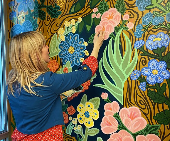Whimsical Forest Mural Process Video