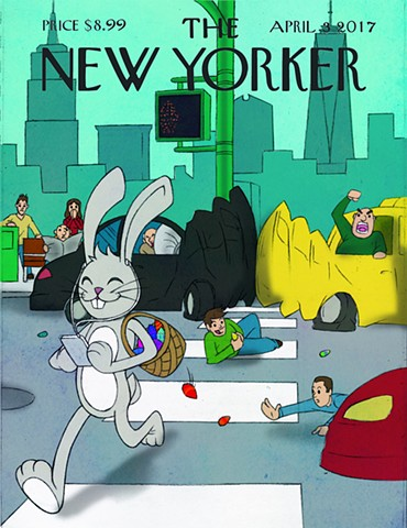 New Yorker Spring Cover by: Alekos Manikas