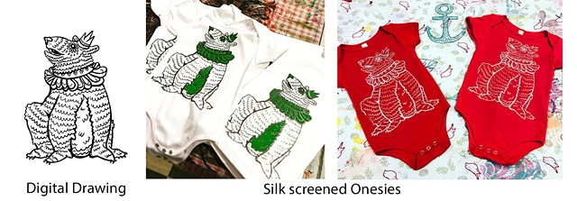 King Bear Silkscreened Onesies
