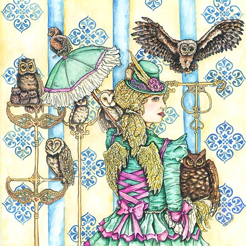 Athena and Her Owls