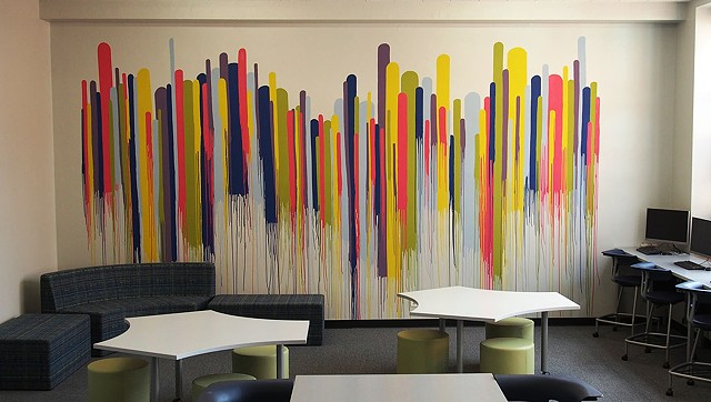 Creative Media Center Mural at St. Benedict Preparatory School, Chicago IL