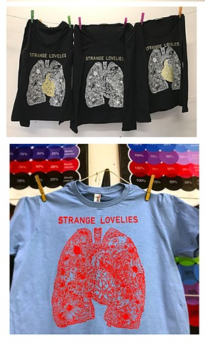 Strange Lovelies Silkscreened T-Shirts