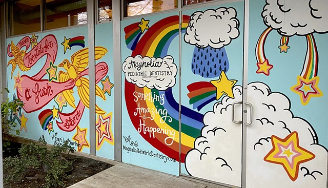 Magnolia Pediatric Dentistry Mural
