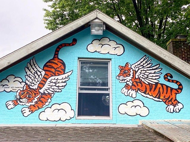 Flying Tiger Mural