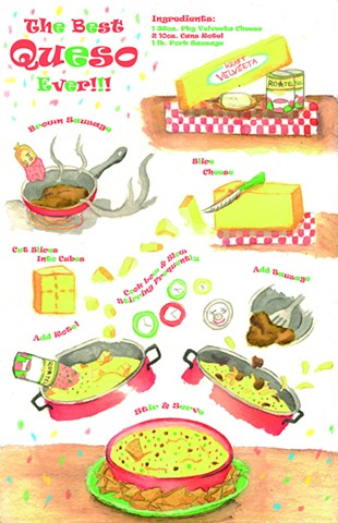 Illustration by Jessie Lynn Commercial Illustration  Illustrated Recipe for Kraft