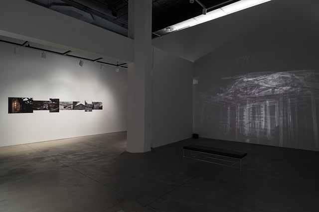 multi-media installation, composite photography, olfactory artwork