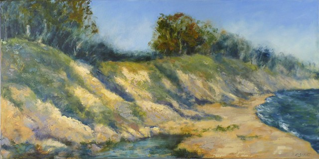 oil painting landscape seascape Goleta Beach California