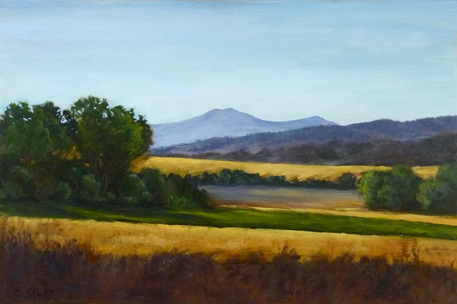 oil painting, landscape, Val D'Oracia,Buonconvento,  Siena, Tuscany