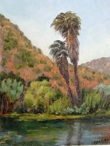 Palms and Pond, Pala Rey Ranch, San Diego County, CA