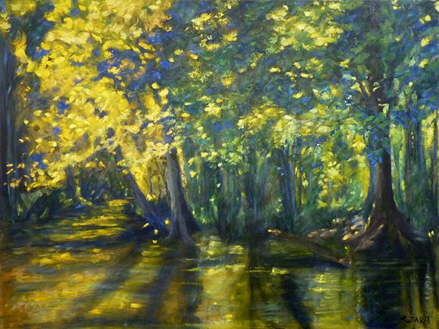 oil painting, Ghost River, Shelby County