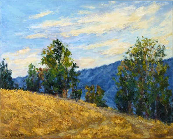 California landscape painting, gold hills