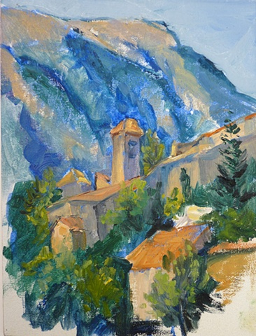 study of village of Brantes, Haute Provence, France