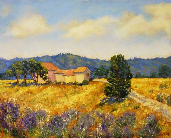 Provence, oil painting, landscape