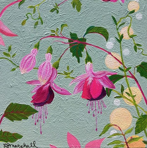 fuchsias, fuchsia, botanical paintings, botanicals, flowers