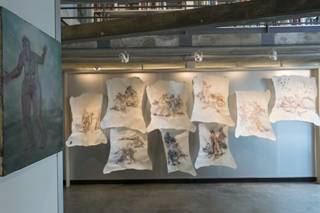 Combats I-IX (installation view, MIT, Rotch Gallery)