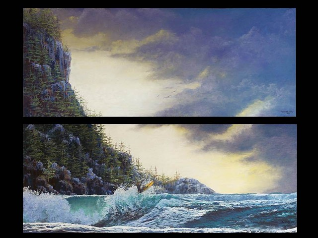 Northern Surf II-(Diptych)