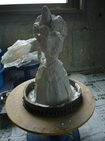 Building up layers of G2 plaster