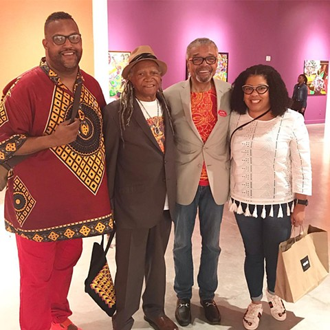 Art Basel Weekend, with AfriCobra artists Nelson Stevens and Wadsworth Jarrell. Fanboying out!