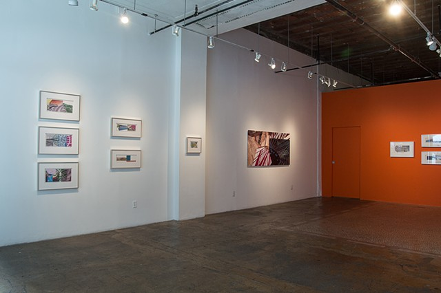 "Installation shot of  ""The Soft and Sweet Eclipse"" exhibit at CB1 Gallery in Los Angeles, CA"