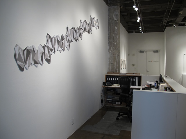 installation shot from Tilt, solo exhibit at Marx & Zavaterro, San Francisco, CA